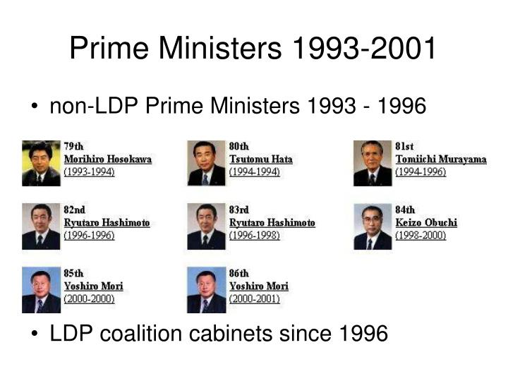 Prime Ministers 1993-2001