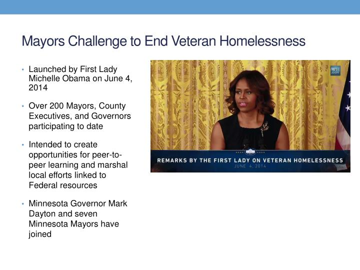 Mayors Challenge to End Veteran Homelessness