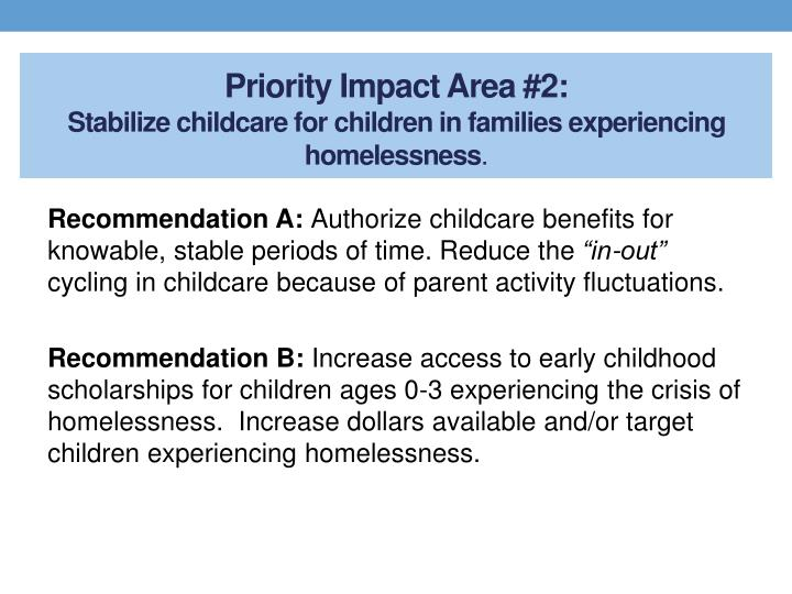 Priority Impact Area #2: