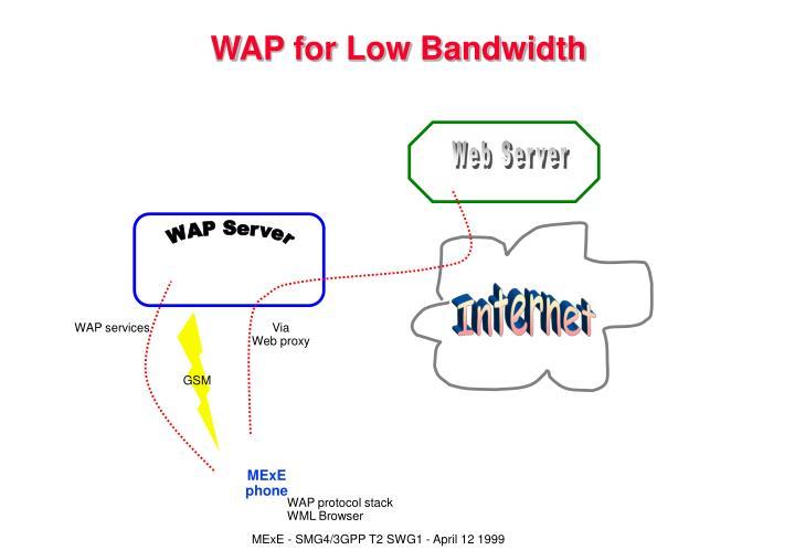 WAP for Low Bandwidth