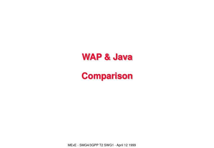 WAP & Java