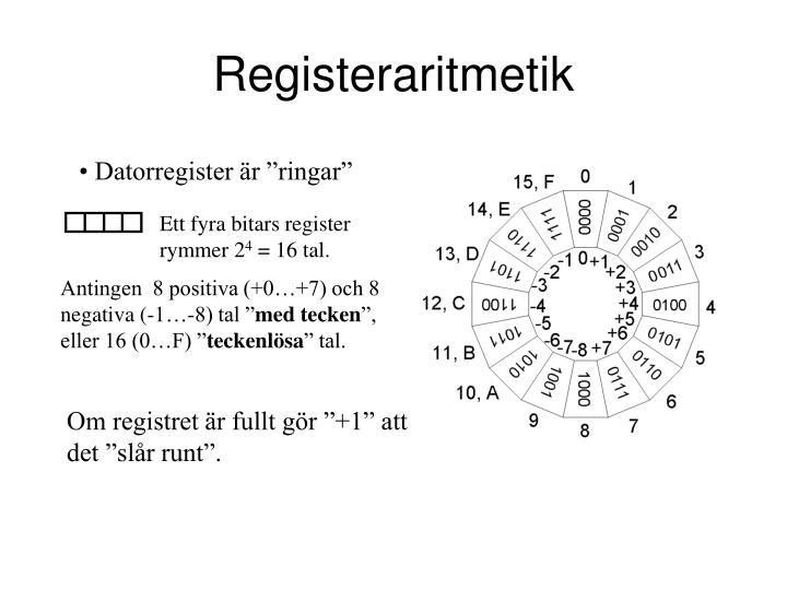 Registeraritmetik