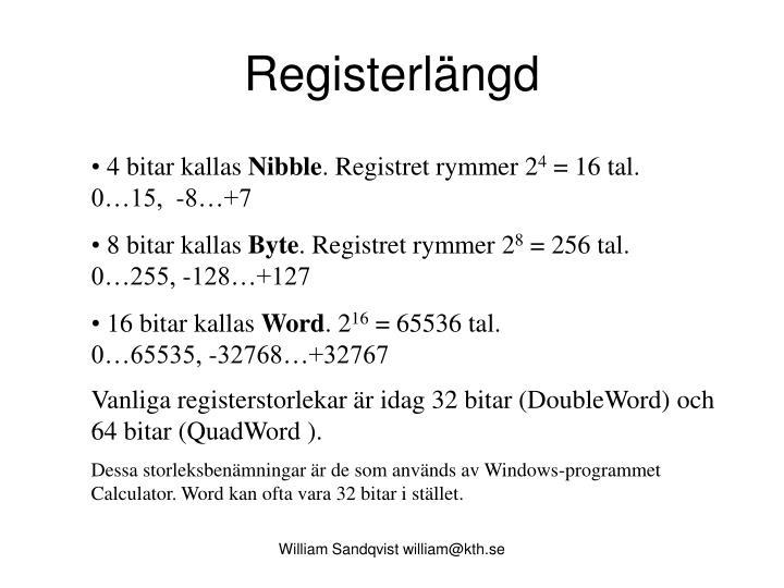 Registerlängd