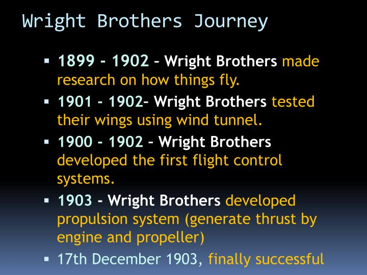Wright Brothers Journey