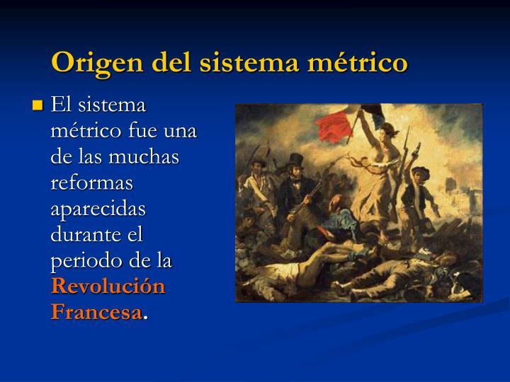 Origen del sistema métrico