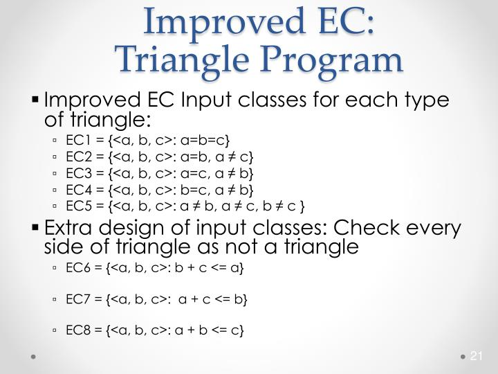 Improved EC: