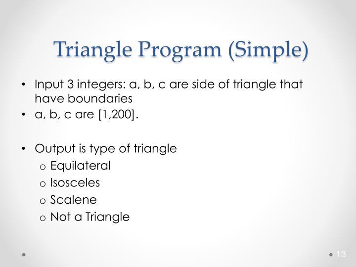 Triangle Program (Simple)