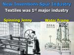 new inventions spur industry
