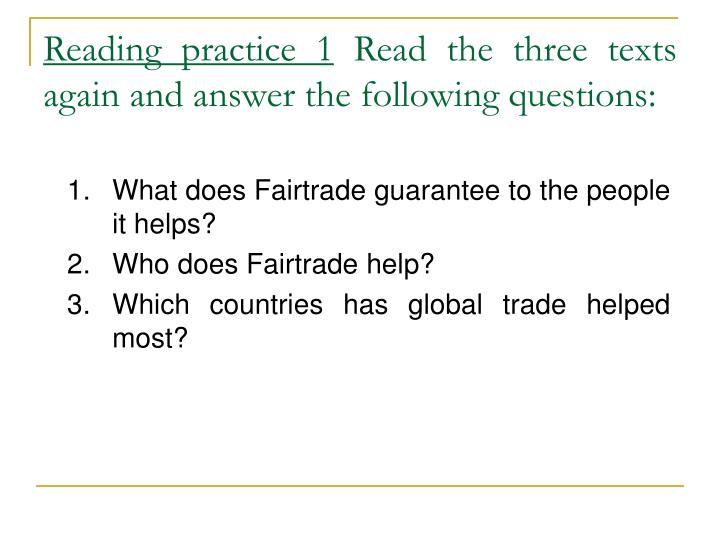 Reading practice 1