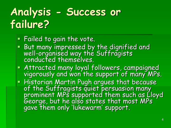 Analysis - Success or failure?