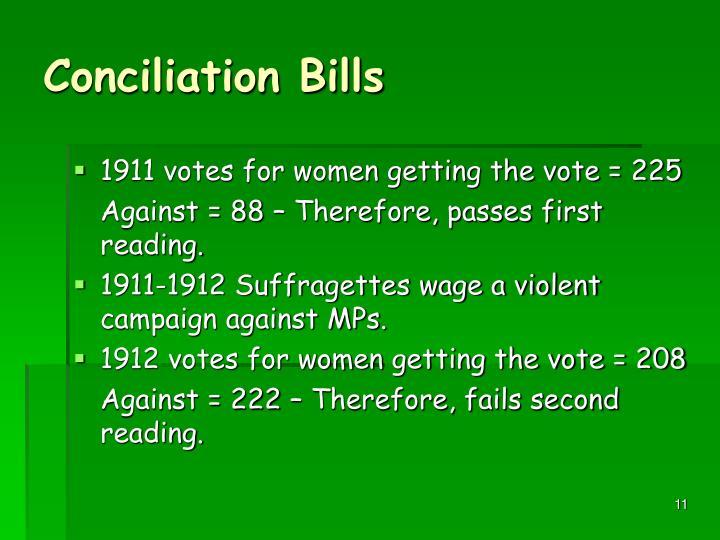 Conciliation Bills