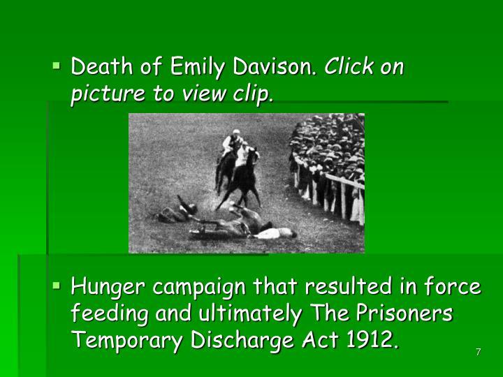 Death of Emily Davison.