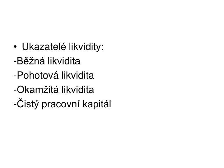 Ukazatelé likvidity:
