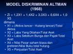 model diskriminan altman 1968