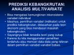 prediksi kebangkrutan analisis multivariate
