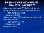 prediksi kebangkrutan analisis univariate1
