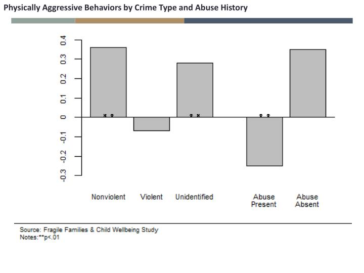 Physically Aggressive Behaviors by Crime Type and Abuse History