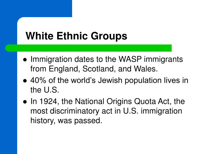 White Ethnic Groups