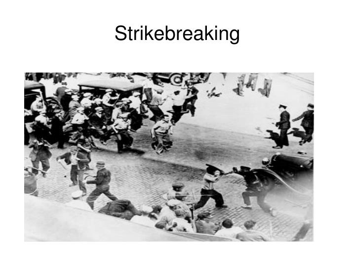 Strikebreaking