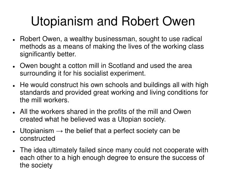 Utopianism and Robert Owen