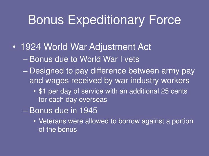 Bonus Expeditionary Force