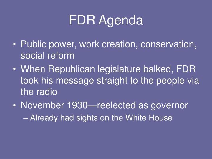 FDR Agenda