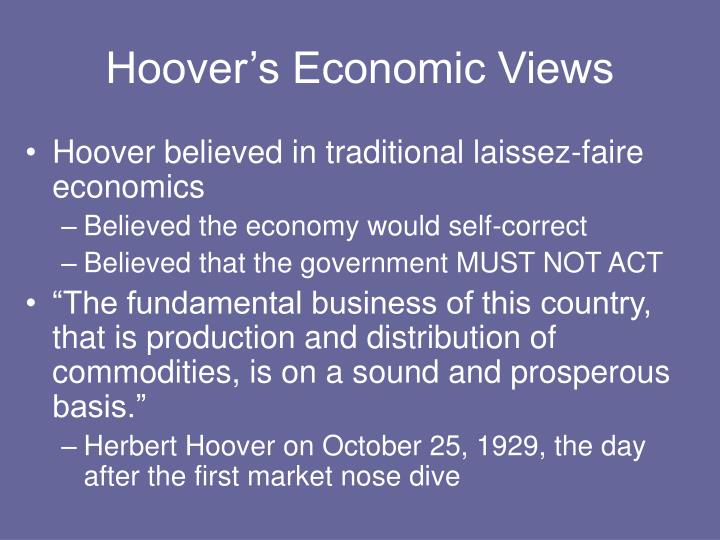 Hoover's Economic Views
