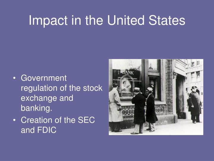 Impact in the United States