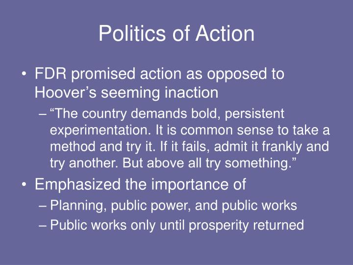 Politics of Action