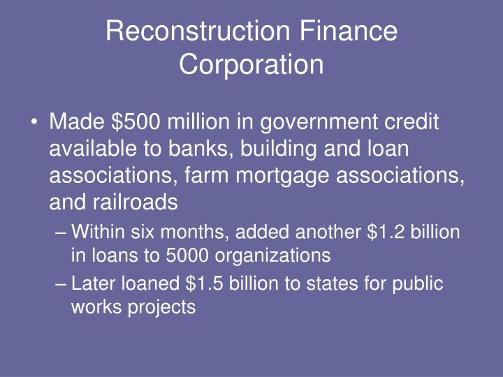 Reconstruction Finance Corporation