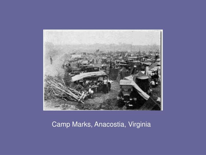 Camp Marks, Anacostia, Virginia