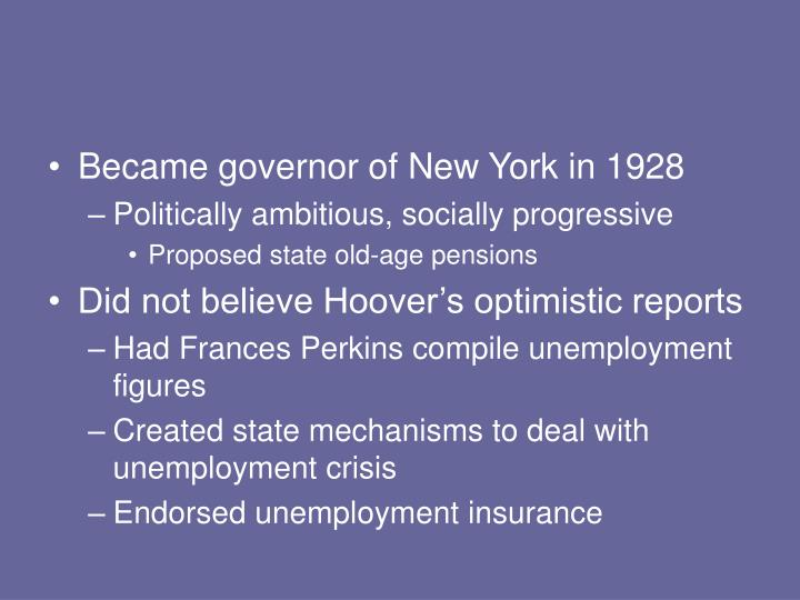 Became governor of New York in 1928