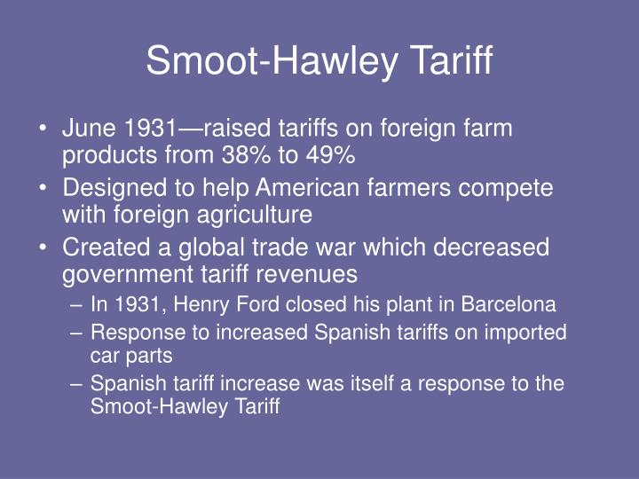 Smoot-Hawley Tariff