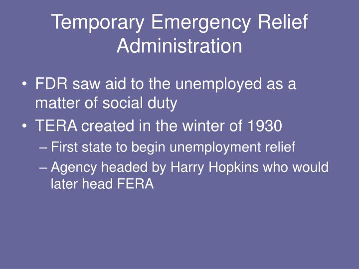 Temporary Emergency Relief Administration