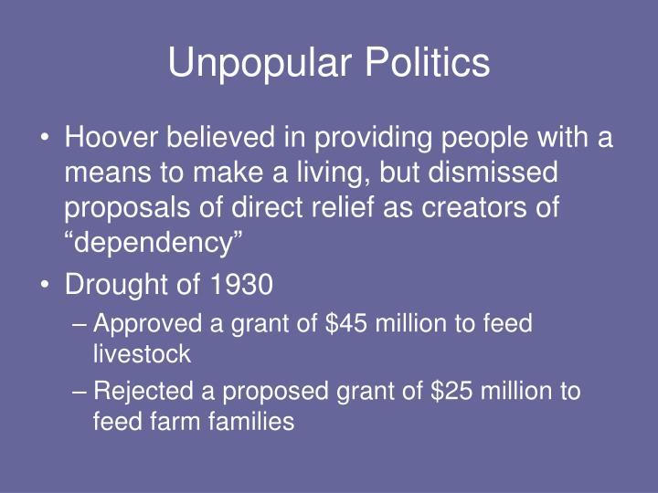 Unpopular Politics