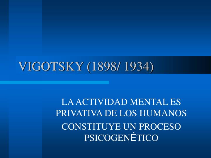 Vigotsky 1898 1934