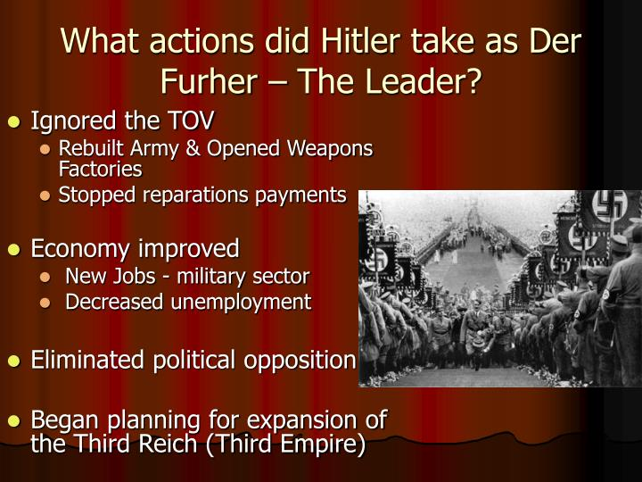 What actions did Hitler take as Der Furher – The Leader?