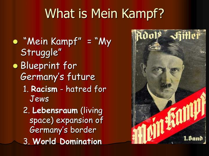 What is Mein Kampf?