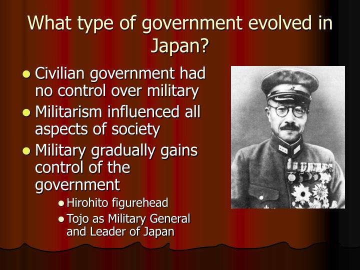What type of government evolved in Japan?