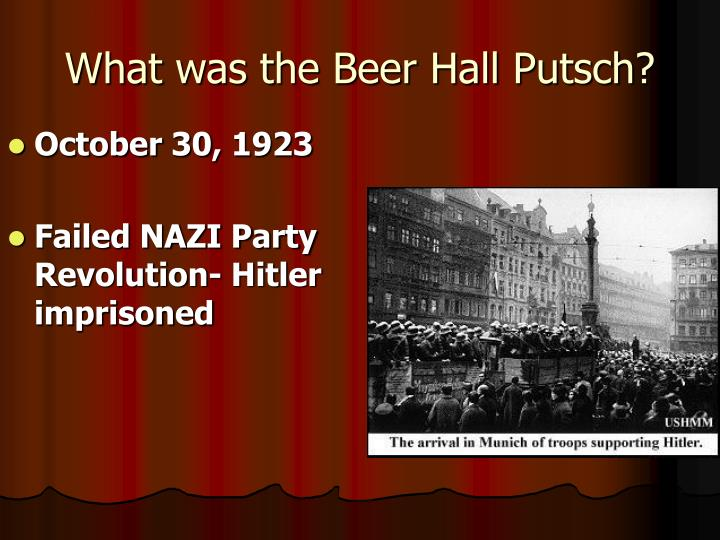 What was the Beer Hall Putsch?