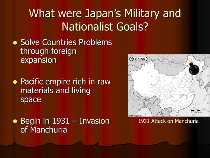 What were Japan's Military and Nationalist Goals?