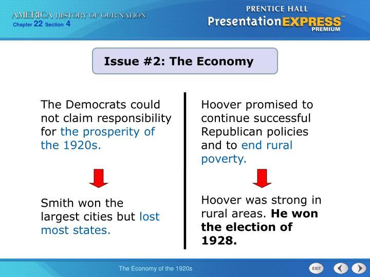 Issue #2: The Economy