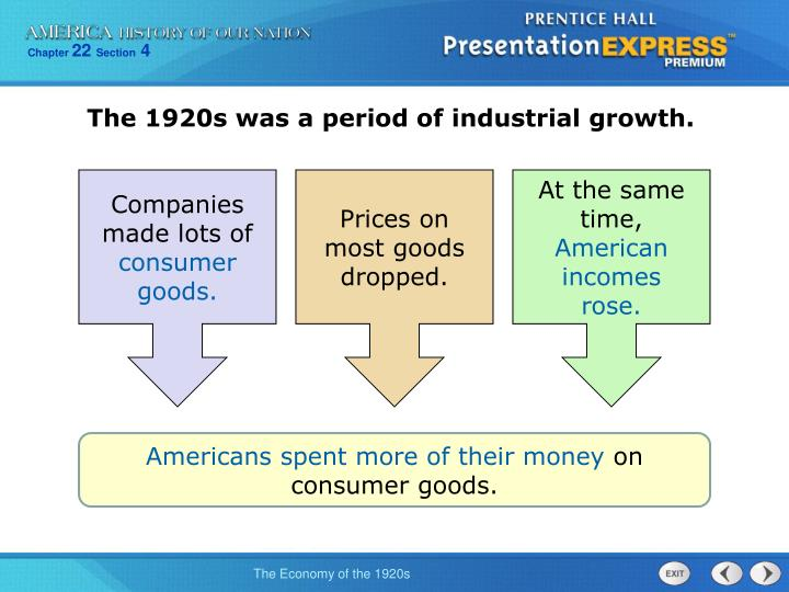 The 1920s was a period of industrial growth.