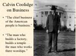 calvin coolidge on business