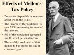 effects of mellon s tax policy