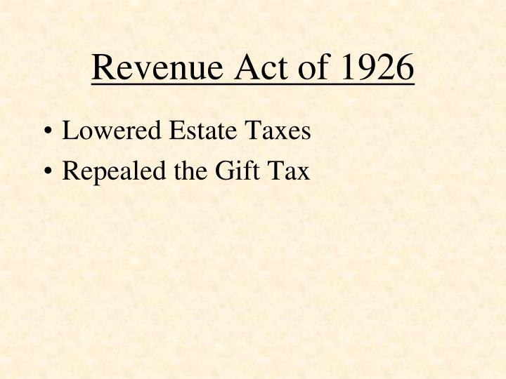 Revenue Act of 1926