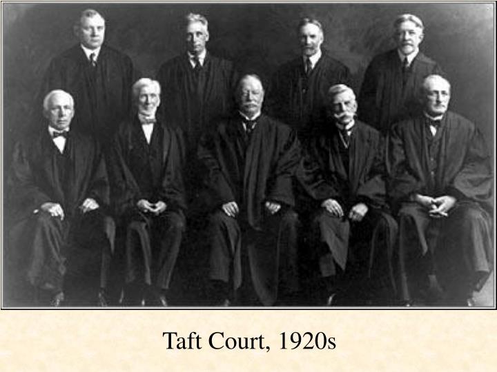 Taft Court, 1920s