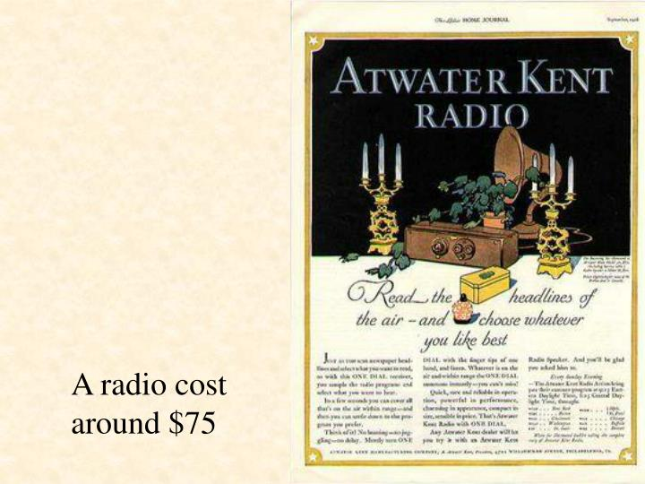 A radio cost around $75