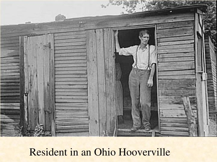 Resident in an Ohio Hooverville