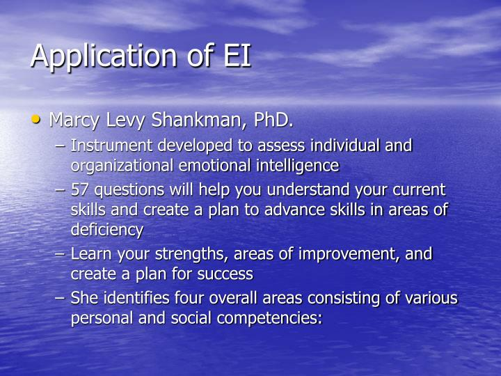 Application of EI